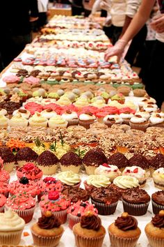 Owning a cupcake bakery would of course mean baking thousands and thousands of cupcakes. All different flavors and decorations.