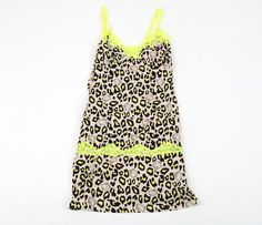 45d4151e2a9c Hello Kitty Chemise  Neon Yellow Leopard