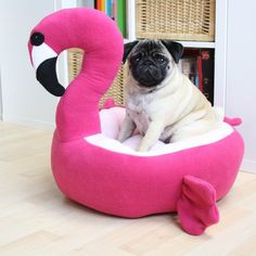 PRE ORDER Flamingo bed - dog cat bed - cute kawaii - pink - Tap the pin for the most adorable pawtastic fur baby apparel! You'll love the dog clothes and cat clothes! Flamingo Gifts, Flamingo Decor, Pink Flamingos, Bulldogs, Pugs, Cool Dog Beds, Pink Bird, Pug Love, Pet Beds