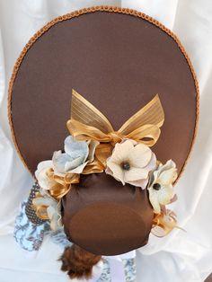"""Regency style bonnet for 18"""" American Girl Dolls - Caroline 1812. $15.95, via Etsy."""