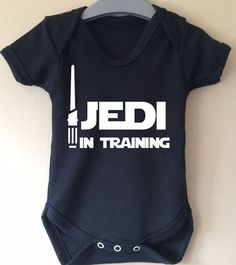 Jedi in Training  Star Wars inspired baby por TwinkleJellyDesigns