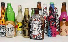 beer bottle art - Google Search