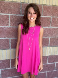 Round neck knit tank dress-more colors