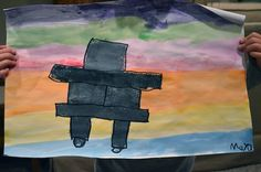 Learn about Inukshuk, the fascinating stone figures made by the Inuit, and then make your own inukshuk in an Inuit, Arctic art project! Group Art Projects, Art Projects For Adults, Cool Art Projects, Artists For Kids, Inuit Kunst, Inuit Art, Aboriginal Art For Kids, Kunst Der Aborigines, Cultural Crafts