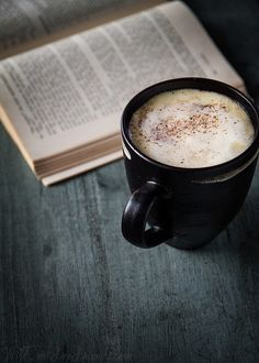A book and coffee!