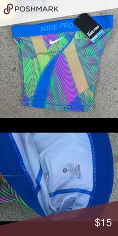 Nike Pro Stay Cool Shorts. NWT Hyper cool Series. Dri-Fit. Medium. Blue. Nike Shorts