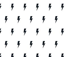 Lightning bolt black on white fabric by kleababy on Spoonflower - custom fabric