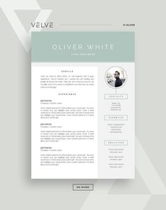 Resume / CV 3 page Template Cover Letter / Instant Download | Etsy Cv Resume Template, Resume Cv, Creative Resume Templates, Resume Design, Cover Letter Template, Page Template, Application Letters, Professional Resume, Business Presentation