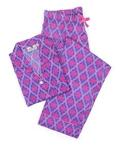 Love this Pink Medallion Organic Sateen Pajama Set - Women on #zulily! #zulilyfinds