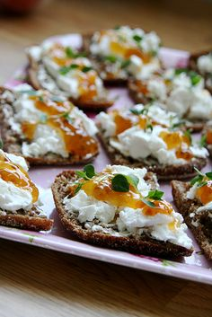 Goat Cheese Cloudberry Jam on Rye . I don't have any idea what this tastes like, or what clouberry is, but it sounds awesome. Food N, Food And Drink, Norwegian Food, Scandinavian Food, Unique Desserts, Jam On, Rye Bread, Swedish Recipes, Tapas