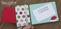 Hidden Message Half Fold Christmas Card Wonderful Year Stampin Up