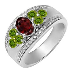 Kay - Lab-Created Alexandrite Ring White Gold