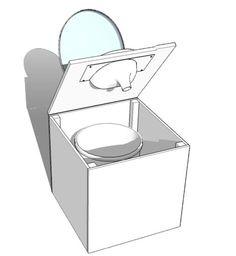 box compost toilet