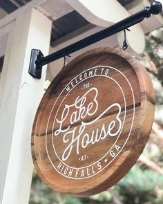 The Lake house High Falls Wedding Venue Signage Design