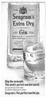 Seagram's Gin Extra Dry 1970 Ad Picture