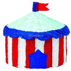 Pinata Zirkuszelt, h=27cm, d=35cm, Zirkusparty Clownparty Kindergeburtstag Spiele