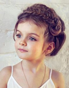 Wedding Hairstyles for Kids. And even though cute on a little girl (as seen) would look beautiful on a bride too :)