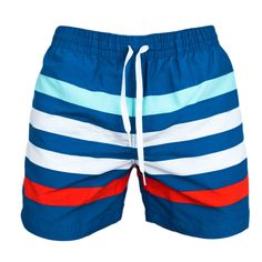 Santa Claus Hold Candy Cane Mens Beach Shorts Elastic Waist Pockets Lightweight Swimming Board Short Quick Dry Short Trunks