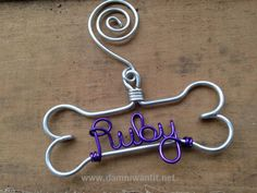 Personalized Pet Ornament - Handcrafted Wire Dog Bone with Pet's Name  More Cool Things for Pets: http://www.damniwantit.net/category/pets/