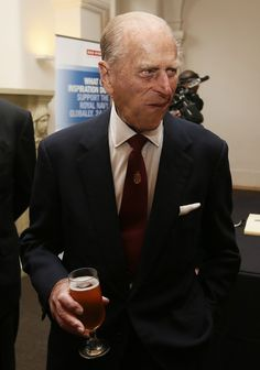 Prince Philip, Duke of Edinburgh attends a reception after the renaming ceremony for 'The City Of Adelaide' clipper ship at the Old Royal Navy College, 18.10.13 in Greenwich, England