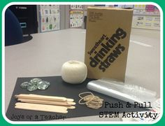1st grade STEM, force of motion, pull & pull activity for 1st grade