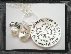 Mother's Day Jewelry   Hand Stamped Necklace  by LillyEllenDesigns, $56.00