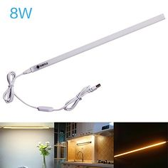 cool LED Desk Lamp USB Powered,Ryham Dimmable Magnetic Stick-on Anywhere Strip Table Lamp /Touch Control Book Light Craft Light for Notebook Laptop PC Reading Camping Office(8W,38LED)Warm White
