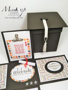 If you want to make her day extra extra special, check out these creative birthday ideas for her that will have her smiling from ear to ear. Explosion Box Design, Explosion Box Tutorial, Exploding Box Template, Exploding Gift Box, Graduation Party Themes, Graduation Cards, Diy Gift Box, Diy Box, Gift Boxes