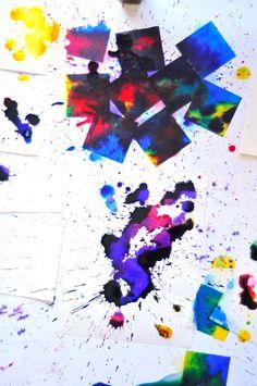 Process art for kids - watercolor • Artchoo.com