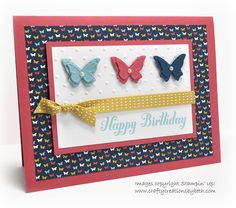 SU Bring on the Cake, Patio Party DSP, Beautiful Wings Embosslit,  Perfect Polka Dots E F