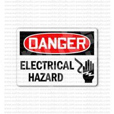 Danger Electrical Hazard Safety Sign Sticker
