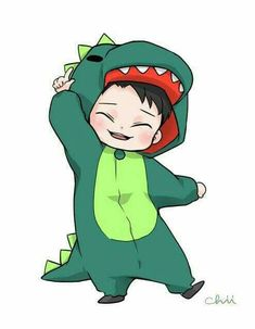 Is that- is that Phil in Dan's onesie- I think it its omfg<< It's actually Chen from EXO 😂 Anime Chibi, Chibi Exo, Exo Anime, Exo Cartoon, Cute Cartoon, Exo Chen, Exo Exo, Marshmello Wallpapers, Exo Stickers