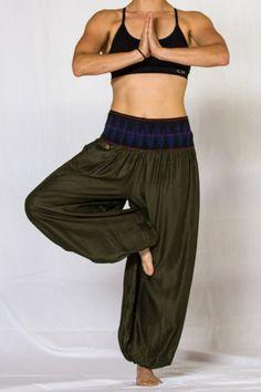 Aladdin Pants (harem yoga zen lotus hammer buddha ganesh thailand asia). $34.99, via Etsy.