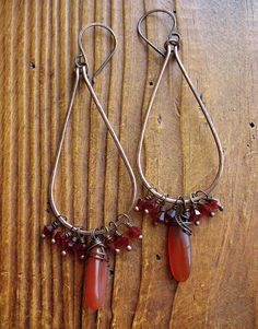 Carnelian Shards and Garnet Crystals on Long by missficklemedia