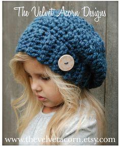 Crochet PATTERN-The Nevaeh Slouchy 12/18 months Toddler