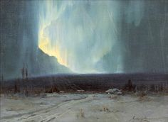 Sydney Mortimer Laurence (American, 1865-1940), Northern Lights, oil on canvas