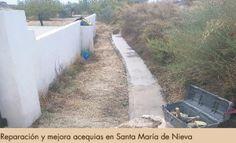 Mejora en acequias en Santa María de Nieva