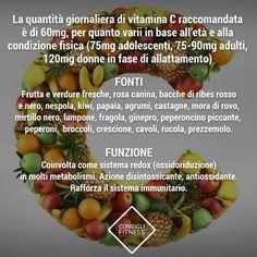 Vitamina C raccomandazioni