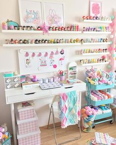 12 Drool Worthy Craft Room Ideas That Will Make You Drool - Craftsonfire 12 Drool Worthy Craft Room Study Room Decor, Craft Room Decor, Craft Room Design, Cricut Craft Room, Cute Room Decor, Design Room, Craft Room Storage, Room Organization, Bedroom Decor