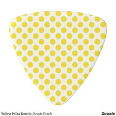 Yellow Polka Dots Guitar Pick This design is available on many products! Follow the link and click the 'Available On' tab near the product description! Thanks for looking!  @zazzle #polka #dot #abstract #pattern #design #color #red #yellow #blue #black #white #purple #lilac #green #orange #pink #guitar #pick #music #drum #stick #accessory #men #women #shop #buy #sale #gift #idea