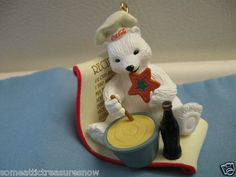 "Coca Cola Polar Bear Cub Christmas Ornament ""Recipe"" 1997 | eBay"