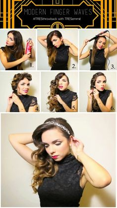 Throwback Thursday with TRESemmé: Modern Finger Waves for Long Hair.
