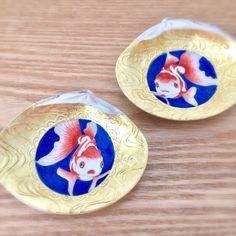 阿吽の金魚 貝合わせ(絵付け桐箱入り)