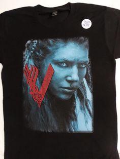 c7dee429b Vikings History Tv Show Lagertha Closeup T-Shirt  Vikings  TShirt