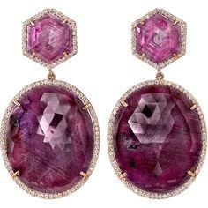 Irene Neuwirth Diamond Collection  Ruby, Sapphire, & Diamond Earrings  34,400.00