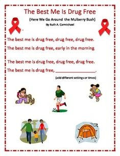 This is a song to use during red ribbon week! Thanks for looking at our store!