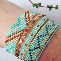 off loom beading stitches Loom Bracelet Patterns, Bead Loom Bracelets, Bead Loom Patterns, Jewelry Patterns, Beading Patterns, String Bracelets, Stack Bracelets, Embroidery Bracelets, Handmade Bracelets