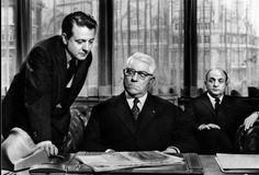 "Bernard Blier et Jean Gabin dans ""Les grandes familles"""