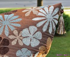 Decorative 24 inch Pillow Cover with Tassels on Etsy
