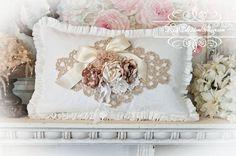 Romantic Millinery Roses Ruffled Pillow